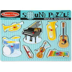 "Melissa and Doug (10732) - ""Musical Instruments, Sound Puzzle"" - 7 piezas"