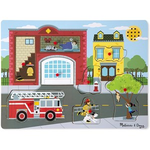 "Melissa and Doug (10736) - ""Around the Fire Station, Sound Puzzle"" - 8 piezas"