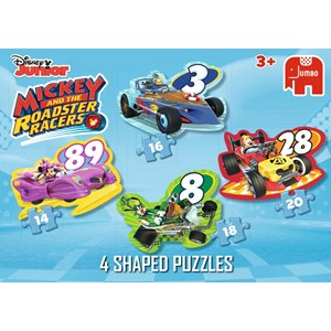 "Jumbo (19671) - ""Disney, Mickey and the Roadster Racers"" - 14 16 18 20 piezas"