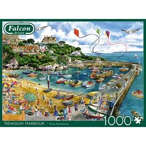 "Falcon (11290) - Fiona Osbaldstone: ""Newquay Harbour"" - 1000 piezas"
