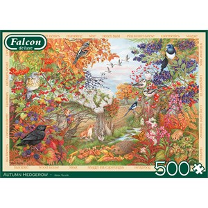 "Falcon (11270) - Anne Searle: ""Autumn Hedgerow"" - 500 piezas"