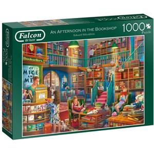 "Falcon (11267) - Eduard Shlyakhtin: ""Afternoon at The Bookshop"" - 1000 piezas"