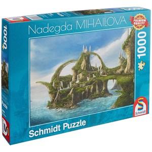 """Schmidt Spiele (59610) - Nadegda Mihailova: """"Island of the Falls"""" - 1000 piezas"""