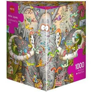 """Heye (29921) - Marino Degano: """"Elephant's Life"""" - 1000 piezas"""
