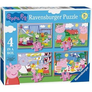 """Ravensburger (6958) - """"Peppa Pig"""" - 12 16 20 24 piezas"""