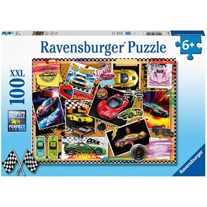 "Ravensburger (12899) - ""Race Cars"" - 100 piezas"