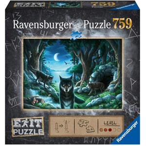"""Ravensburger (15028) - """"EXIT The Curse of the Wolves (in German)"""" - 759 piezas"""