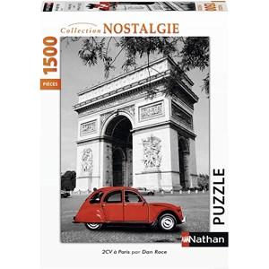 """Nathan (87797) - """"Citroën 2 CV in Paris"""" - 1500 piezas"""
