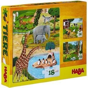 """HABA (4960) - """"Animals"""" - 12 15 18 piezas"""