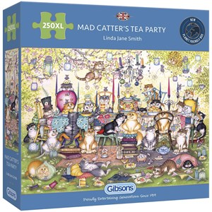 """Gibsons (G2717) - Linda Jane Smith: """"Mad Catter's Tea Party"""" - 250 piezas"""