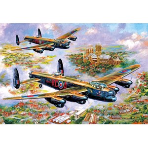"Gibsons (G3113) - Jim Mitchell: ""Lancasters Over Lincoln"" - 500 piezas"