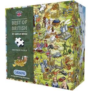 """Gibsons (G3431) - Hartwig Braun: """"Best of British"""" - 500 piezas"""