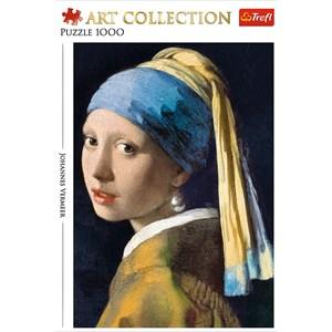 "Trefl (10522) - Johannes Vermeer: ""Girl with a pearl earring"" - 1000 piezas"
