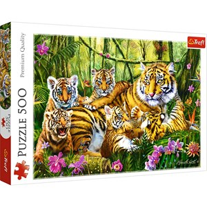 "Trefl (37350) - ""Family of Tigers"" - 500 piezas"