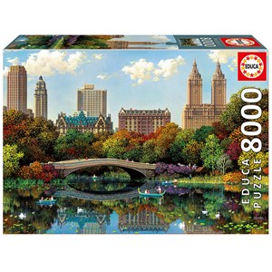 "Educa (17136) - Alexander Chen: ""Central Park Bow Bridge"" - 8000 piezas"