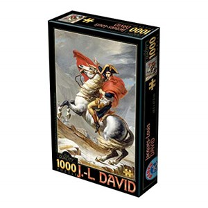 "D-Toys (72719-1) - Jacques-Louis David: ""Bonaparte Crossing the Alps"" - 1000 piezas"