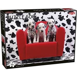 """Tactic (55251) - """"Dalmatian Puppies"""" - 500 piezas"""