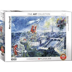 """Eurographics (6000-0850) - Marc Chagall: """"Le Bouquet de Paris"""" - 1000 piezas"""