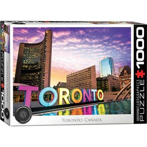 "Eurographics (6000-5432) - ""Toronto, Canada"" - 1000 piezas"