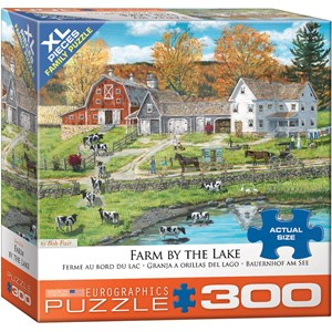 "Eurographics (8300-5382) - Bob Fair: ""Farm by the Lake"" - 300 piezas"
