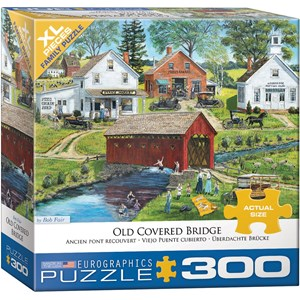 "Eurographics (8300-5383) - Bob Fair: ""Old Covered Bridge"" - 300 piezas"