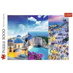 """Trefl (33073) - """"Greek Holidays"""" - 3000 piezas"""