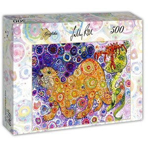 """Grafika (t-00902) - Sally Rich: """"Otters Catch"""" - 500 piezas"""