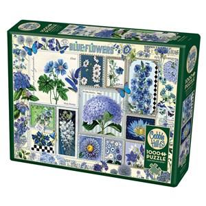 "Cobble Hill (80043) - Barbara Behr: ""Blue Flowers"" - 1000 piezas"
