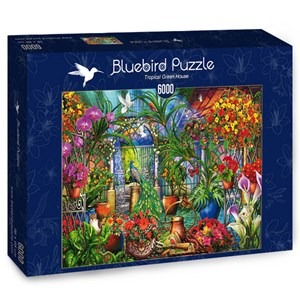 "Bluebird Puzzle (70258) - Ciro Marchetti: ""Tropical Green House"" - 6000 piezas"