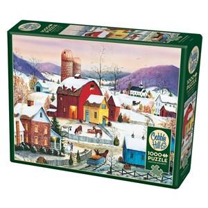 "Cobble Hill (80007) - Mary Ann Vessey: ""Winter Neighbors"" - 1000 piezas"