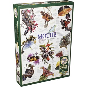 """Cobble Hill (80016) - Carl Brenders: """"Moth Collection"""" - 1000 piezas"""
