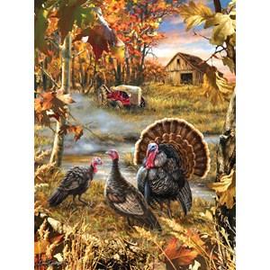 """SunsOut (57168) - Dona Gelsinger: """"Turkey Ranch"""" - 1000 piezas"""
