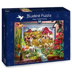 "Bluebird Puzzle (70029) - Jan Patrik Krasny: ""Magic Farm Painting"" - 1000 piezas"