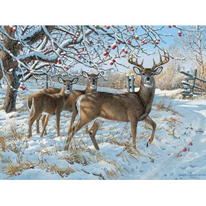 """Cobble Hill (57196) - Persis Clayton Weirs: """"Winter Deer"""" - 1000 piezas"""