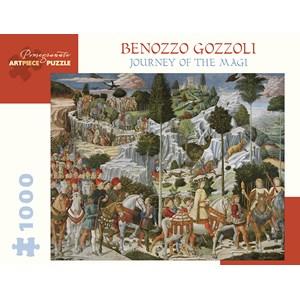 """Pomegranate (aa1032) - Benozzo Gozzoli: """"The Journey of the Magi"""" - 1000 piezas"""