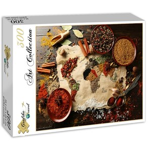 "Grafika (00985) - ""World map in Spices"" - 300 piezas"