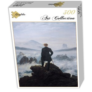 "Grafika (01719) - Caspar David Friedrich: ""Wanderer above the sea of fog, 1818"" - 300 piezas"