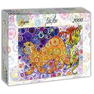 """Grafika (t-00899) - Sally Rich: """"Otters Catch"""" - 2000 piezas"""