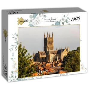 """Grafika (t-00936) - """"Worcester Cathedral viewed from Fort Royal Park"""" - 1500 piezas"""