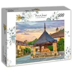 """Grafika (t-00935) - """"Market Cross in Castle Combe, Cotswolds"""" - 500 piezas"""