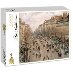 "Grafika (00512) - Camille Pissarro: ""Boulevard Montmartre, 1897"" - 2000 piezas"