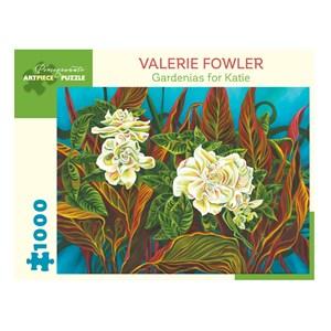 "Pomegranate (aa1044) - Valerie Fowler: ""Gardenias for Katie"" - 1000 piezas"