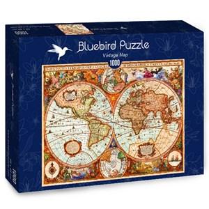 """Bluebird Puzzle (70329) - Aimee Stewart: """"Vintage Map"""" - 1000 piezas"""