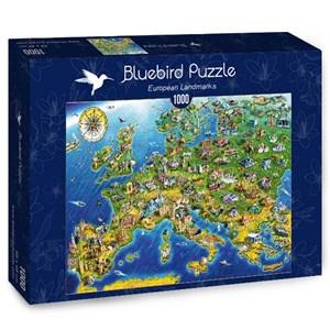 "Bluebird Puzzle (70322) - Adrian Chesterman: ""European Landmarks"" - 1000 piezas"