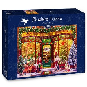 """Bluebird Puzzle (70342) - Garry Walton: """"Festive Shop"""" - 1000 piezas"""