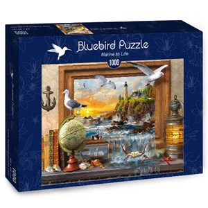 "Bluebird Puzzle (70346) - Dominic Davison: ""Marine to Life"" - 1000 piezas"