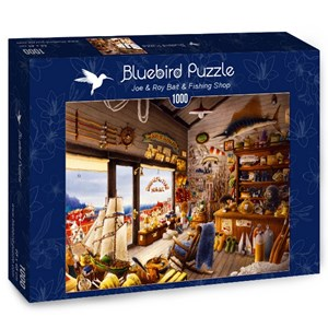 "Bluebird Puzzle (70321) - ""Joe & Roy Bait & Fishing Shop"" - 1000 piezas"