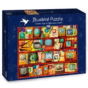 "Bluebird Puzzle (70330) - Steve Crisp: ""Golden Age of Television-Shelf"" - 1000 piezas"