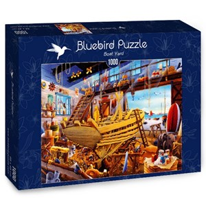 "Bluebird Puzzle (70316) - Hiroyuki: ""Boat Yard"" - 1000 piezas"