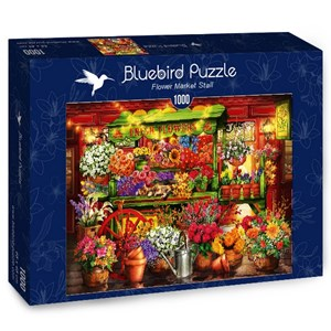 "Bluebird Puzzle (70333) - Ciro Marchetti: ""Flower Market Stall"" - 1000 piezas"